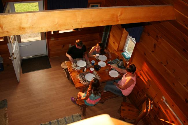 Dining area at a Aim High Cabin in 2015