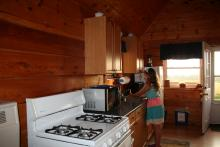 Kitchen in an Aim High Cabin in 2015